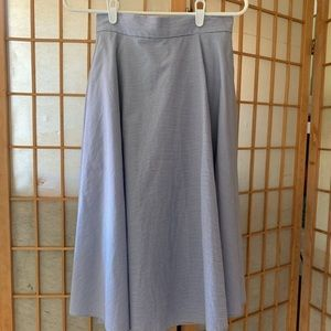 Uniqlo A-Line Pinstripe Circle Skirt